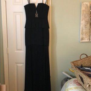 Elegant BCBG black gown!